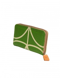 Orla Kiely green fabric wallet