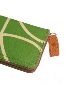 Orla Kiely green fabric wallet price