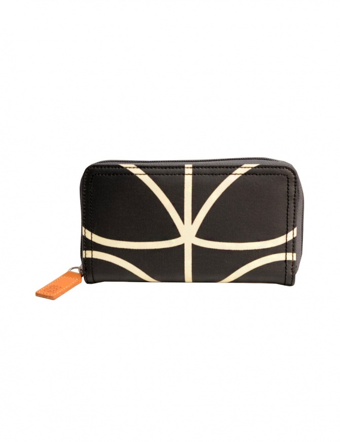 Orla Kiely black fabric wallet OETCLIN122 BZW wallets online shopping