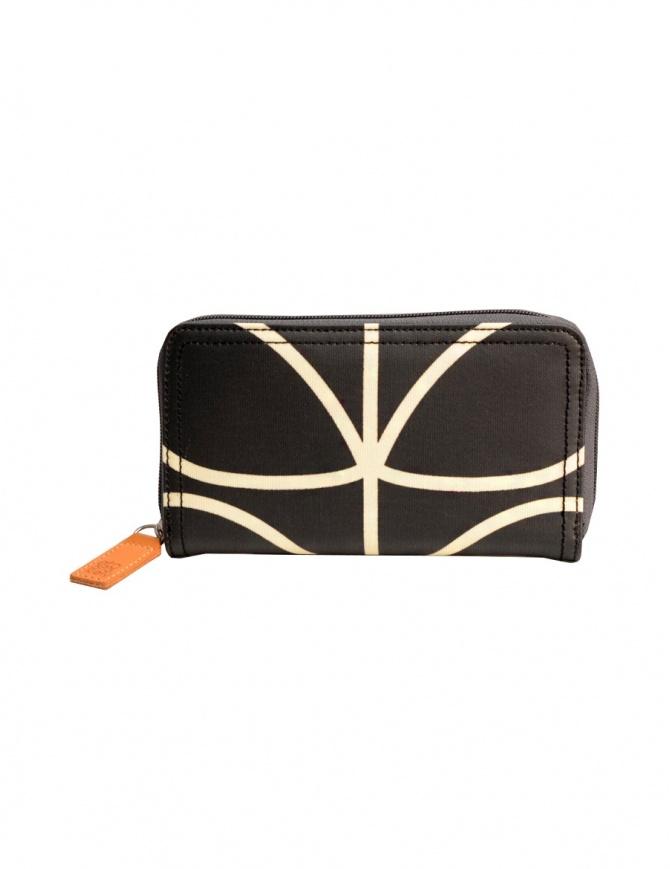 Portafoglio Orla Kiely in tessuto nero OETCLIN122 BZW portafogli online shopping