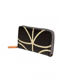 Orla Kiely black fabric wallet buy online