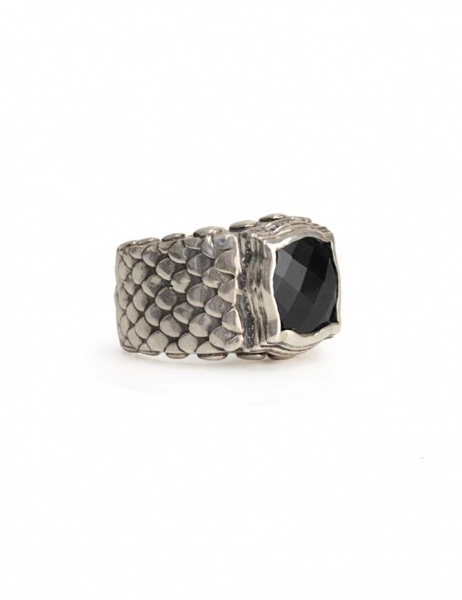 ElfCraft ring with dragon scales and black zirconia 808.876DS RING L.62 jewels online shopping