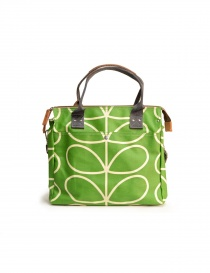 Bags online: Orla Kiely green fabric bag
