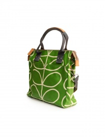 Orla Kiely green fabric bag