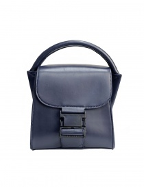 ZUCCA Small Buckle navy blue bag online