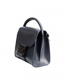 ZUCCA Small Buckle navy blue bag
