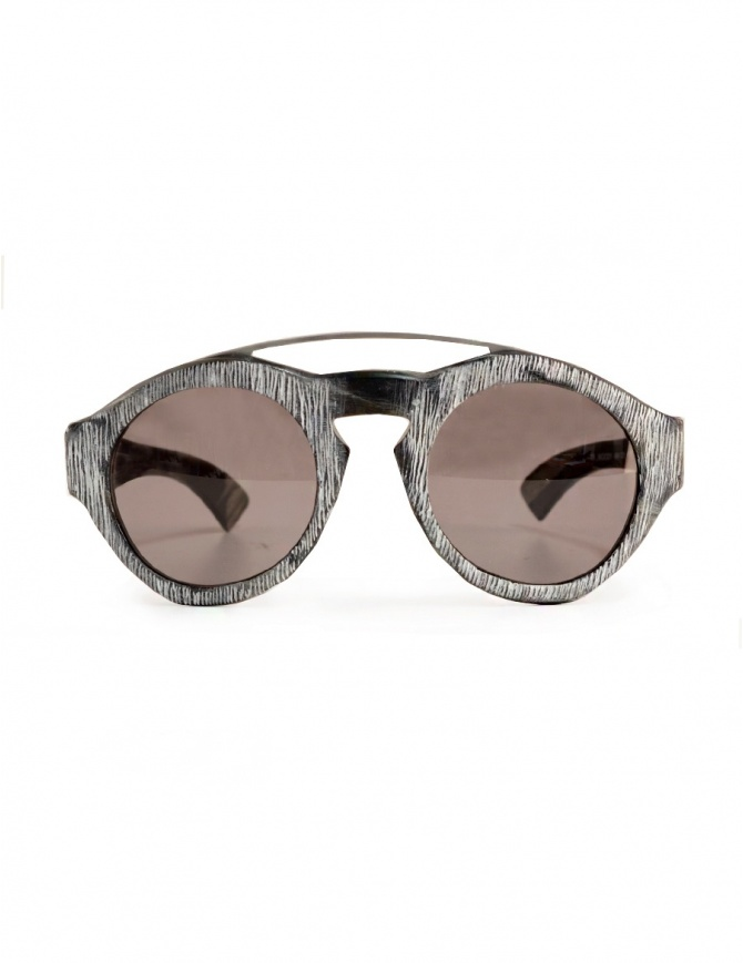 Paul Easterlin Woody sunglasses in buffalo horn WOODY BLACK glasses online shopping