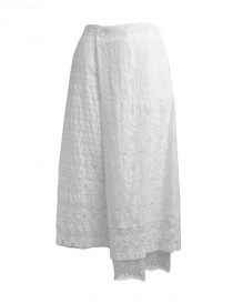 Plantation skirt in white lace PL97-FG066 WHITE