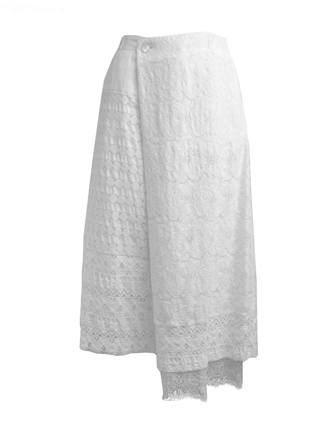 Plantation skirt in white lace PL97-FG066 WHITE womens skirts online shopping