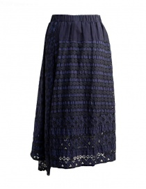 Plantation blue skirt with embroidery