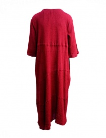 Plantation red asymmetrical hem long dress