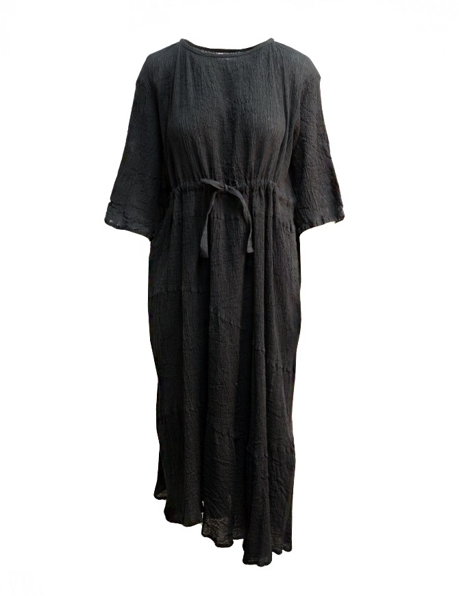 Abito lungo Plantation nero orlo asimmetrico PL97FH030 BLACK abiti donna online shopping