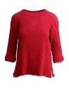 Maglietta Plantation manica tre quarti in crepe di cotone rosso acquista online PL97FN143 RED