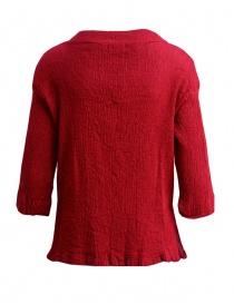 Maglietta Plantation manica tre quarti in crepe di cotone rosso