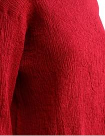 Maglietta Plantation manica tre quarti in crepe di cotone rosso prezzo