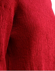 Plantation three-quarter sleeve t-shirt in red cotton crepe price
