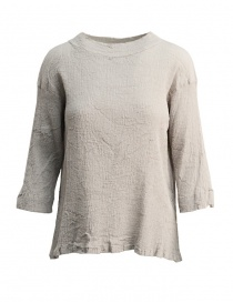 Womens shirts online: Plantation sweater in grey crepe