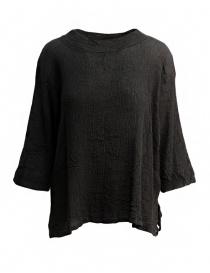 Camicie donna online: Maglietta Plantation manica tre quarti nera