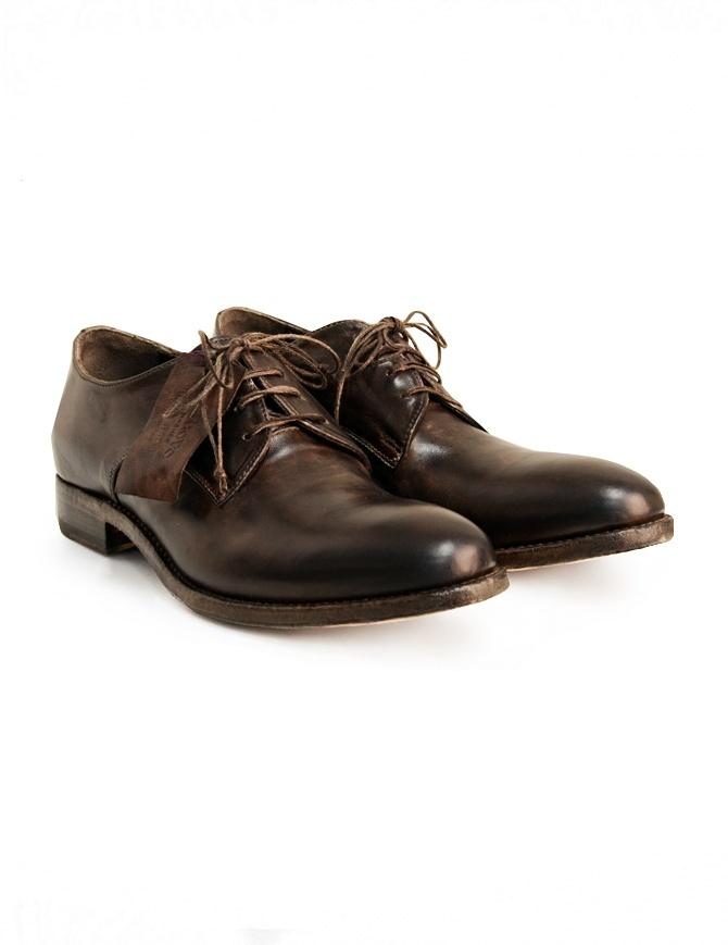 Scarpa Shoto in pelle di cavallo marrone 7578 HORSE NAPPA WASH+TA. calzature uomo online shopping