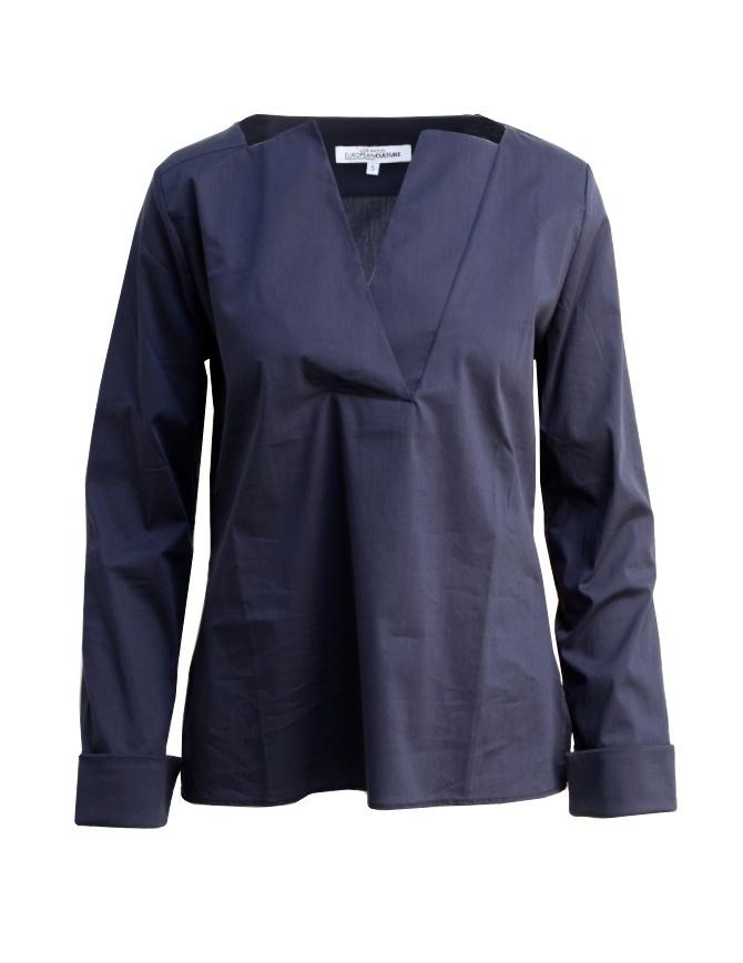 European Culture Lux Mood blue shirt 65M0 3225 0500 womens shirts online shopping