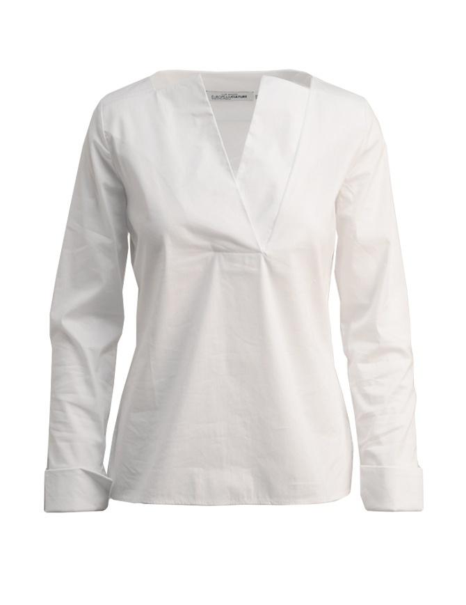 European Culture Lux Mood white shirt 65M0 3225 0101 womens shirts online shopping