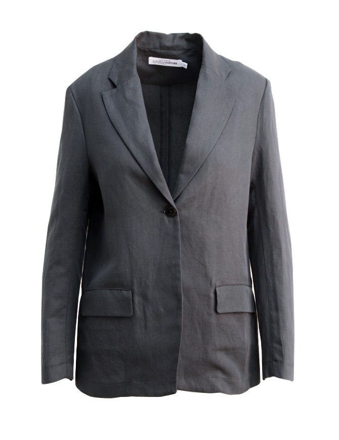 European Culture Lux Mood Grey suit jacket 55G0 3950 1508 womens suit jackets online shopping
