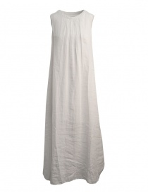 European Culture sleeveless white long dress 18E0 7027 1115
