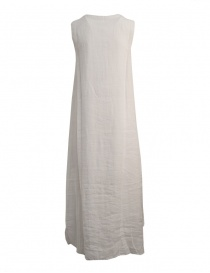 European Culture sleeveless white long dress buy online
