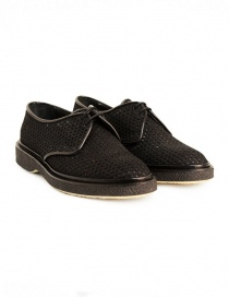 Adieu Type 1 shoe in black perforated fabric TYPE-1-RESILLA-POLIDO-BLK