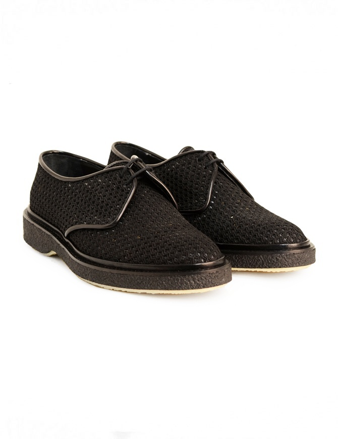 Adieu Type 1 shoe in black perforated fabric TYPE-1-RESILLA-POLIDO-BLK mens shoes online shopping