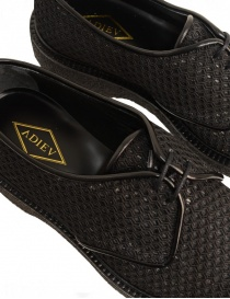Scarpa Adieu Type 1 in tessuto traforato nero calzature uomo acquista online