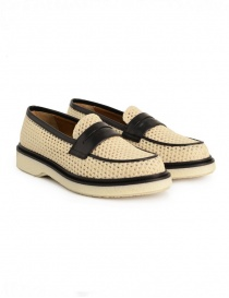 Adieu Type 5 loafer in natural perforated fabric online
