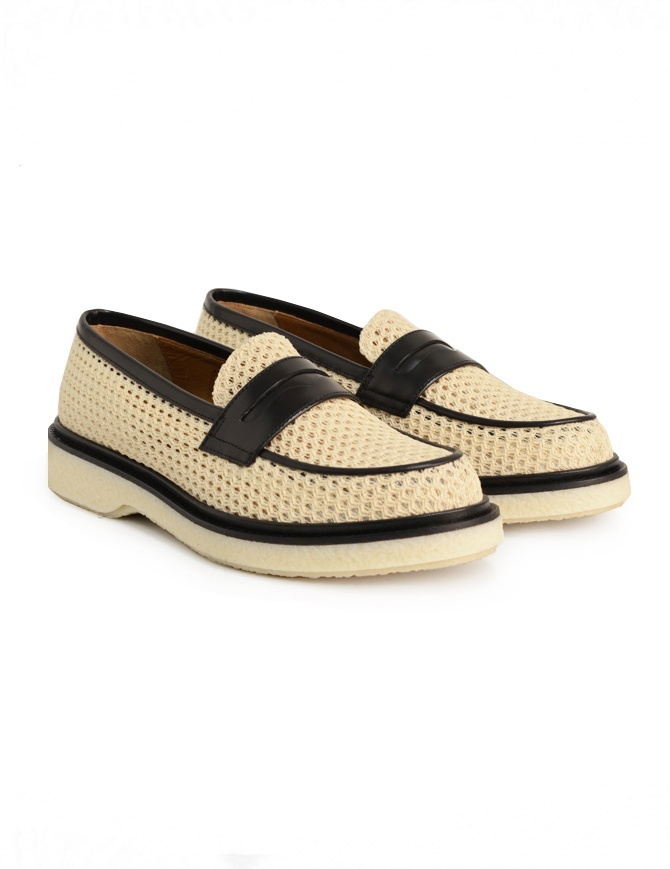 Adieu Type 5 loafer in natural perforated fabric TYPE-5-RESILLA-POLIDO-NAT mens shoes online shopping
