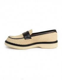 Adieu Type 5 loafer in natural perforated fabric