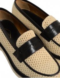 Mocassino Adieu Type 5 in tessuto traforato naturale calzature uomo acquista online