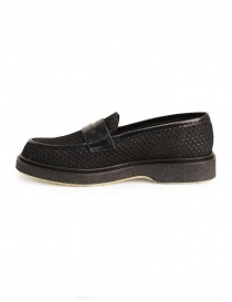 Adieu Type 5 loafer in black perforated fabric