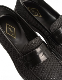 Mocassino Adieu Type 5 in tessuto traforato nero calzature uomo acquista online