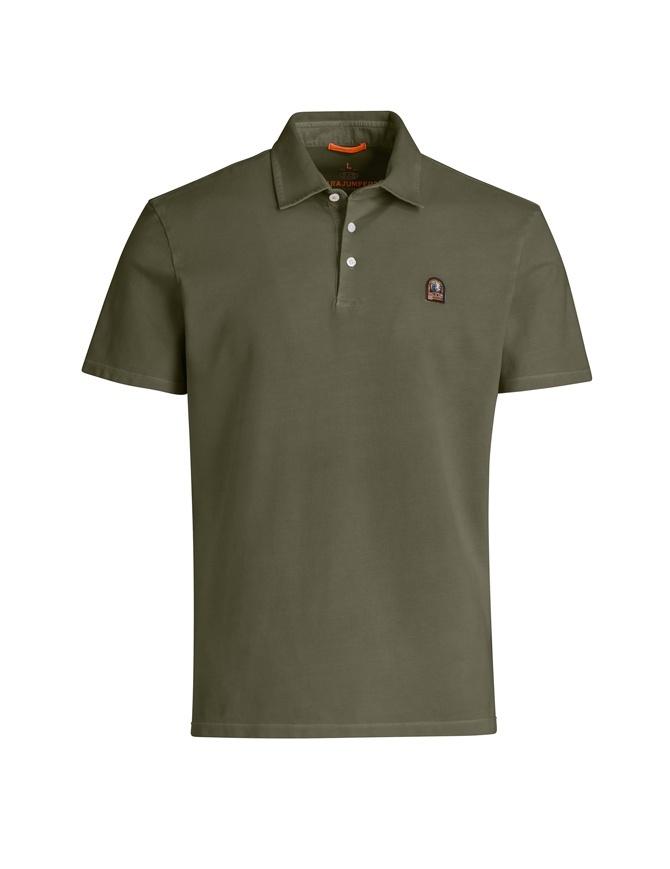 Parajumpers Hugh khaki polo shirt PMFLEPO05 HUGH 629 KHAKI GREEN mens t shirts online shopping