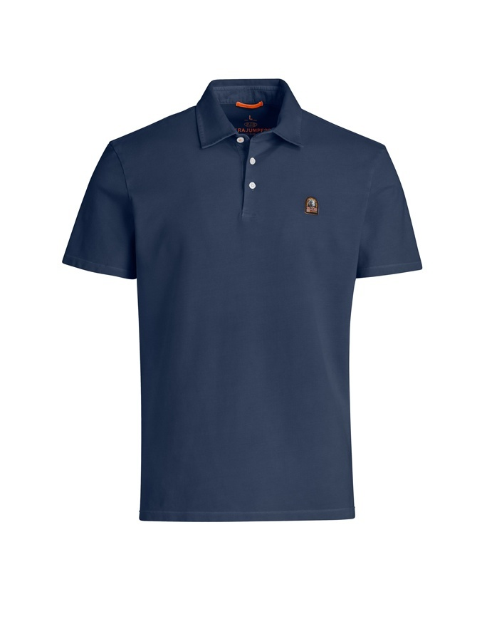 Parajumpers Hung navy polo shirt PM FLE PO05 HUGH 562 NAVY mens t shirts online shopping