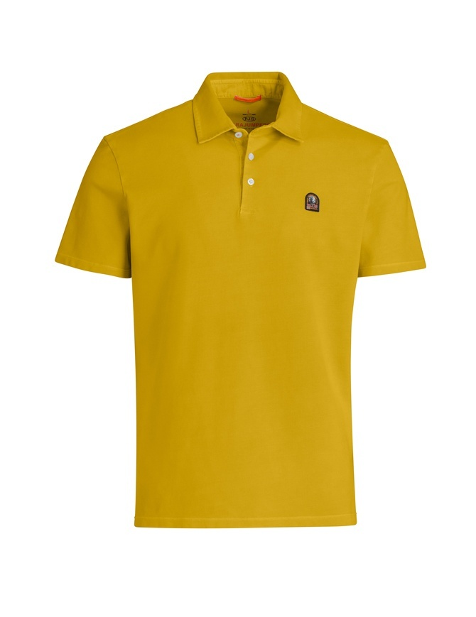 Parajumpers Hugh curry polo shirt PMFLEPO05 HUGH 548 CURRY mens t shirts online shopping