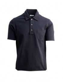 Polo Camo da uomo in piquet blu AE0019-PIQUET-NAVY order online