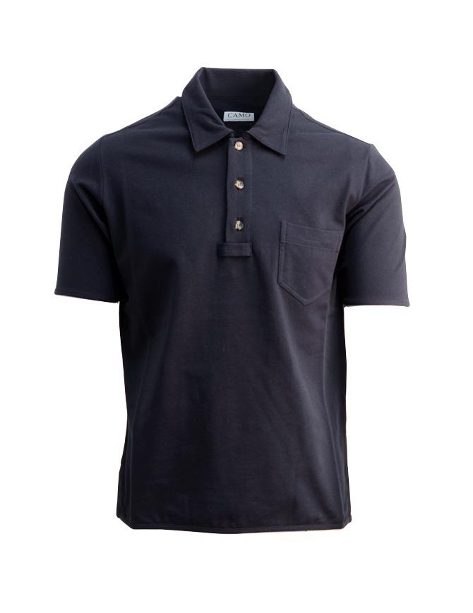 Polo Camo da uomo in piquet blu AE0019-PIQUET-NAVY t shirt uomo online shopping