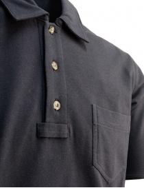 Camo men's polo shirt in blue piqué price