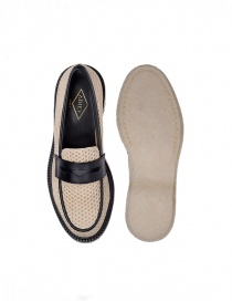 Mocassino Adieu Type 5 in tessuto traforato naturale calzature uomo prezzo