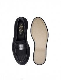 Mocassino Adieu Type 5 in tessuto traforato nero calzature uomo prezzo