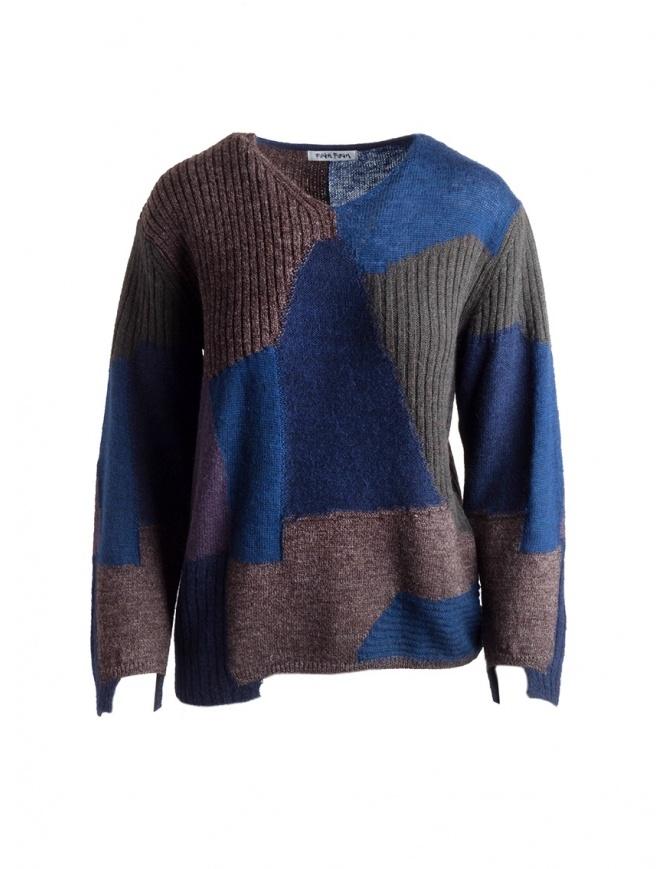 Fuga Fuga Pullover Faha blue brown gray lavander FAHA122W BLUE PULLOVER womens knitwear online shopping