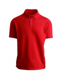 Mens t shirts online: AllTerrain By Descente Commute red polo
