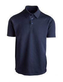 Mens t shirts online: Allterrain By Descente Fusionknit Commute blue polo