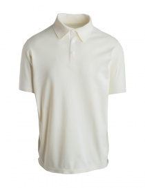 Mens t shirts online: Allterrain By Descente Fusionknit Commute white polo
