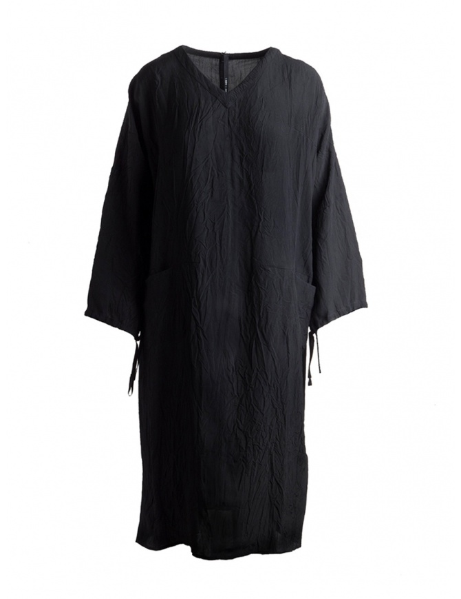 Sara Lanzi black tunic dress with laces SL SS19 04D.VI1.09 BLACK